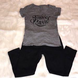 Johnny Cash Scoop Neck T-shirt